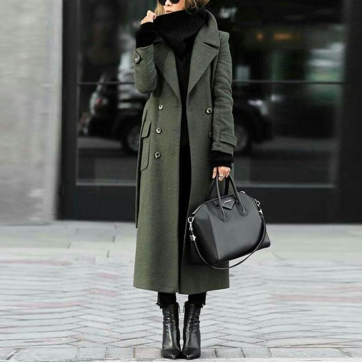 Description Product Name Women Classic Turn-down Collar Elegant Trench Long Coat…