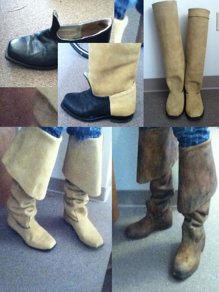 DIY Pirate Boot step-by-step / bells / leather - How to make pirate boots! If you have any questions, ask me at http://www.facebook.com/sparrowpdx
