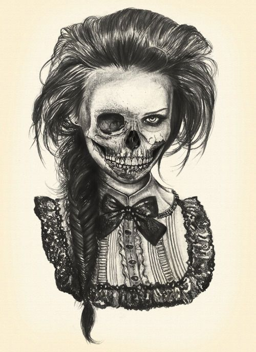 Half Skull, Half Face | Drawings/Art | Pinterest