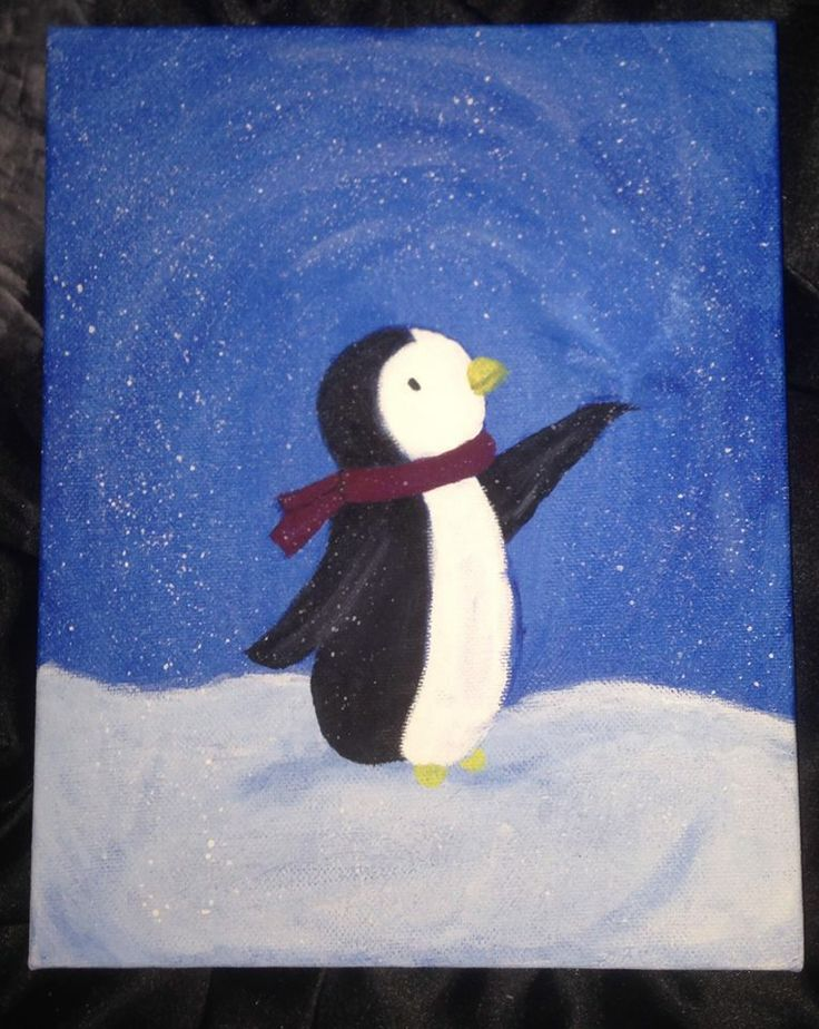 1000 ideas about simple canvas paintings on pinterest for Christmas paintings easy