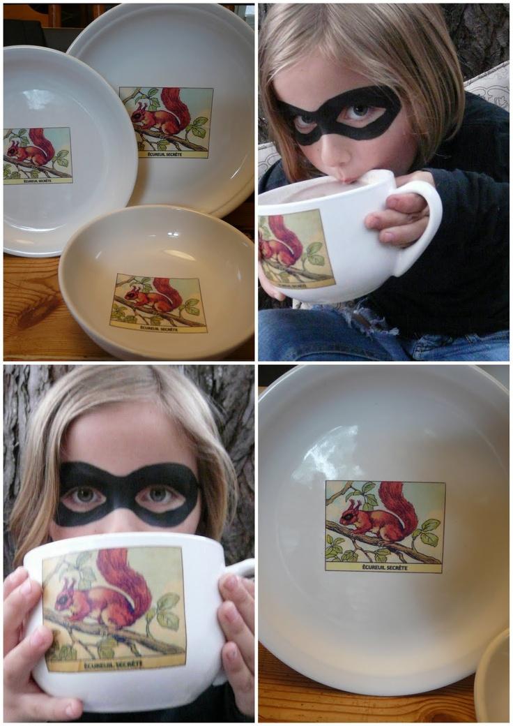 *Rook No. 17: recipes, crafts & creative nesting*: Adventures in Lazertran -- or Secret Squirrel & the Custom Dinnerware DIY
