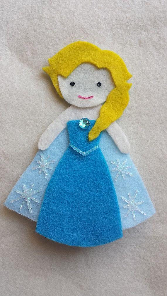 Elsa Frozen Disney Princess Felt Finger Puppet  Felt by CloudKids