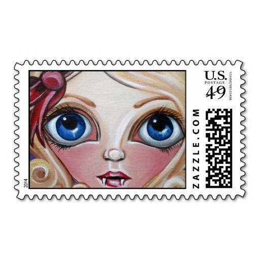 """Vampire Cutie"" Postage Stamps"