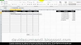 Funciones en Excel 2010: Búsqueda y Referencia. 1ª Parte. BuscarV.