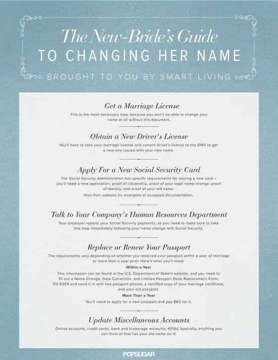 New Bride's Guide to Changing Her Name After Marriage