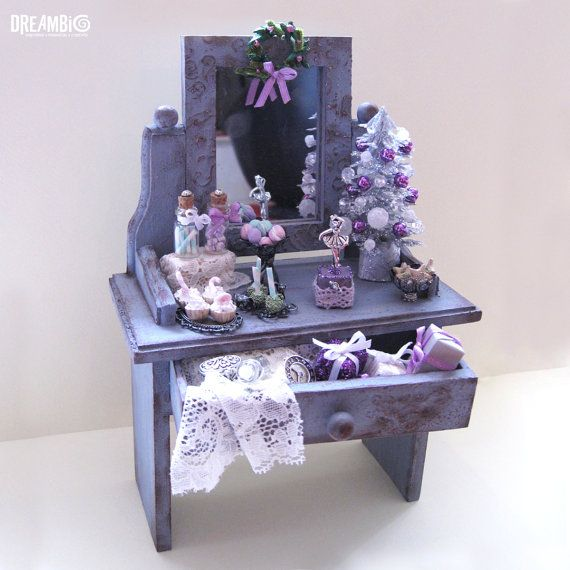 Christmas miniature  dollhouse dressing by DreamBigHandmade