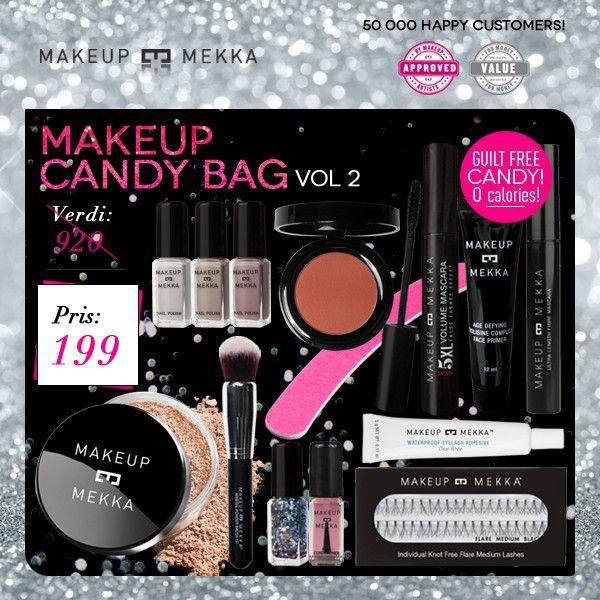 MAKEUP CANDY BAG fra Makeupmekka. Om denne nettbutikken: http://nettbutikknytt.no/makeupmekka-no/