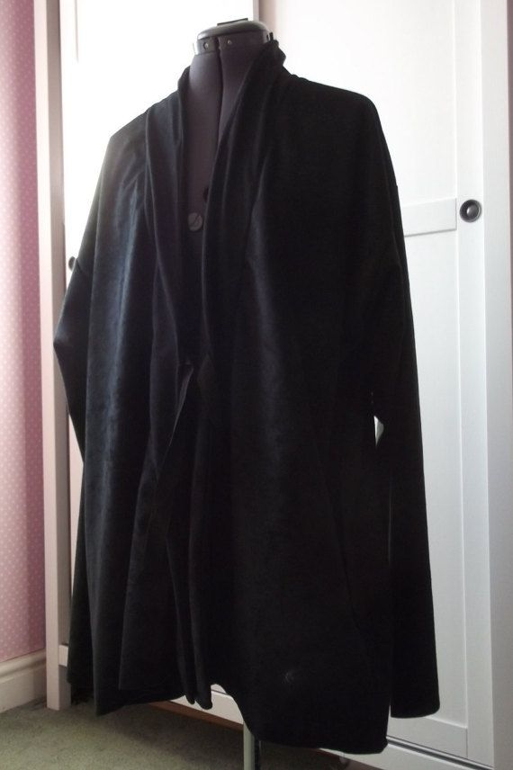 Star Wars Jedi Sith black tunic robe with black by SewCoolCreation