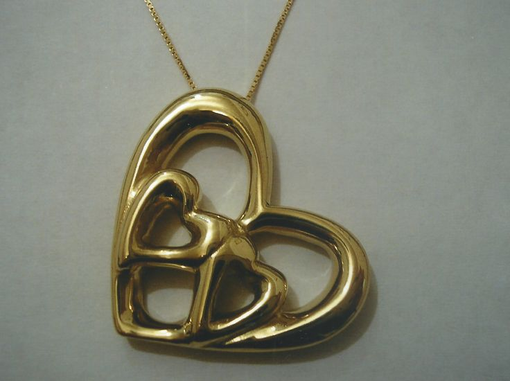 Ciondolo in oro giallo a forma di cuore - Yellow gold pendent heart shaped