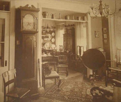 Interior Design Victorian Kitchen: Parlor Interior 1890's