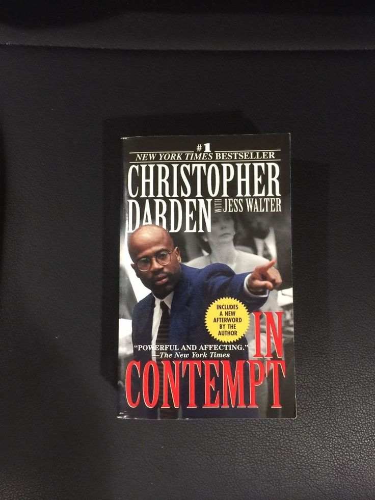 In Contempt by Christopher Darden Signed First Softcover Edition
