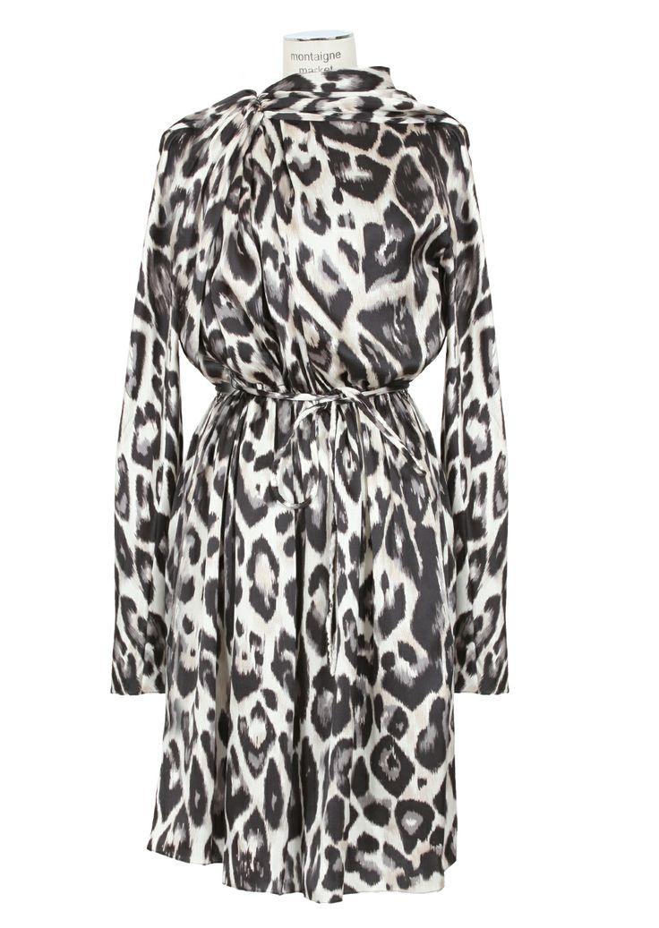 Lanvin animal printed silk dress