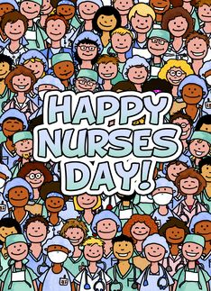 Group of Nurses - Happy Nurses Day Greeting Card - Corrie Kuipers
