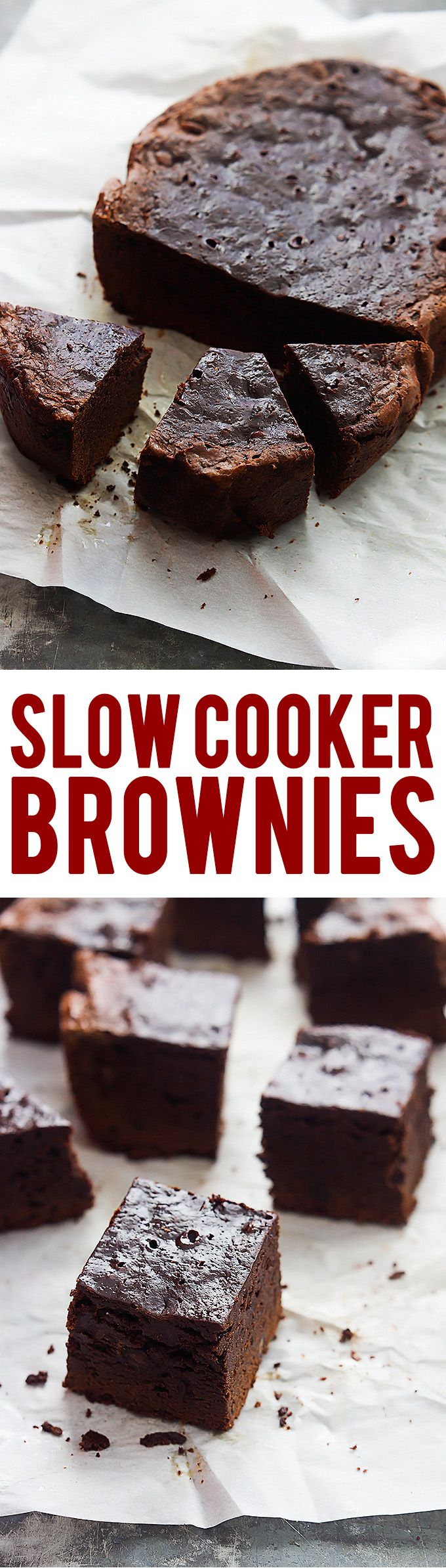 Ultra fudgy Slow Cooker Brownies | Creme de la Crumb