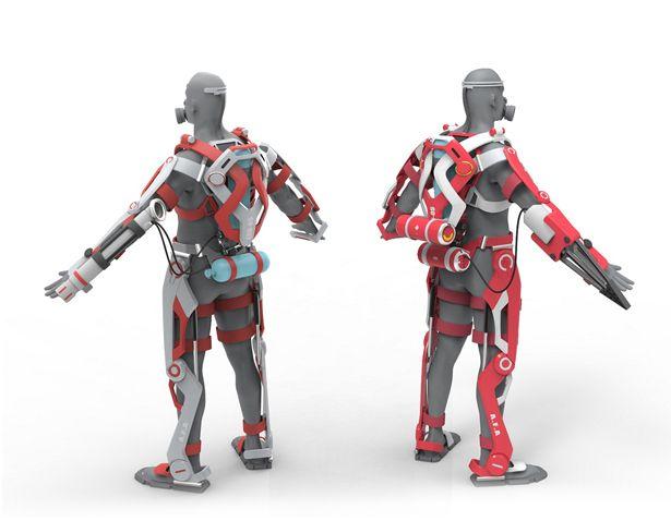 A' Futuristic Design Award Winners - A.F.A.-Powered Exo-Suit for Firefighter by Jiachen (Ken) Chen
