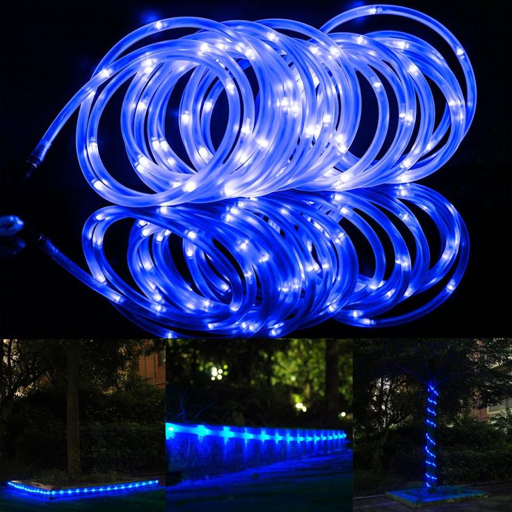 Amazon.com: LTE 50 Leds Solar Rope Lights, Total length of 23ft ,Blue, Outdoor Waterproof LED Solar Rope Lights ,Ideal for Christmas,gardens, Lawn, Patio, Weddings, Parties.: Home Improvement