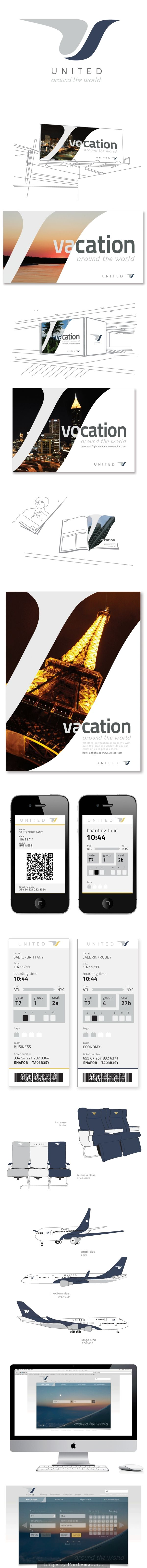 United Airlines Rebrand... - a grouped images picture - Pin Them All