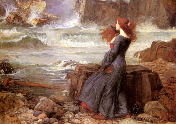 Miranda, the Tempest  John William Waterhouse  1916