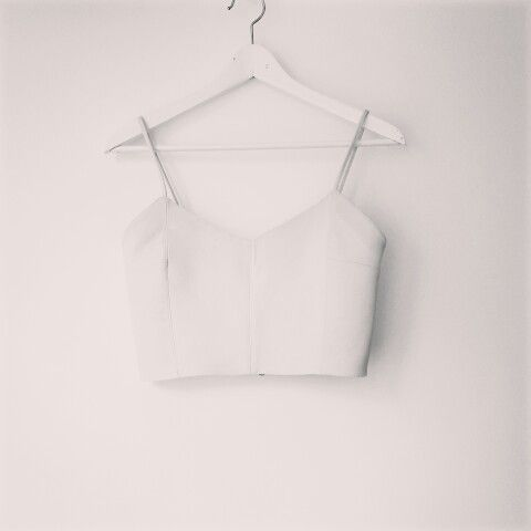 Andra Andreescu leather crop top