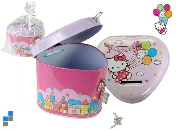 Tirelire metal cadenas Hello Kitty  ref 45