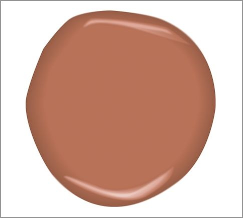 Audubon Russet.  Love this paint for the walls of our living room, which need repainted badly!