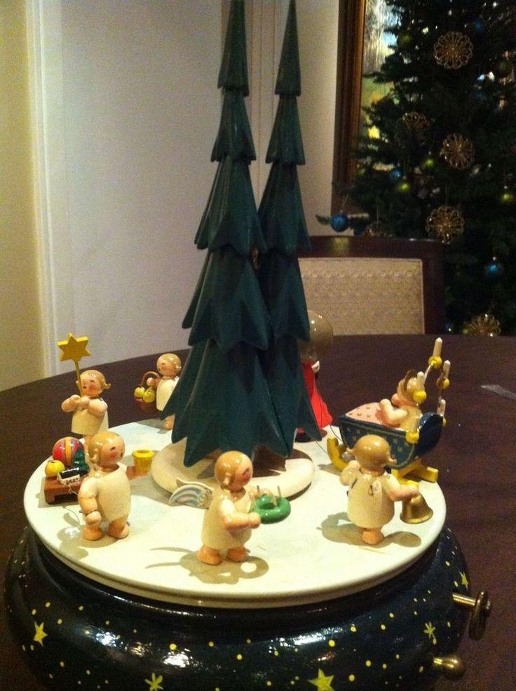 rare German Erzgebirge Christmas Music Box