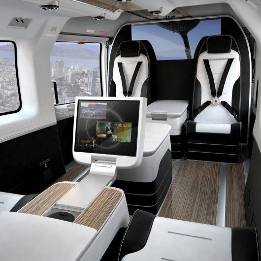 The EC145 Mercedes-Benz Style is not just about luxury but the effective and flexible use of space. It is the only helicopter in its class that can seat up to eight passengers.