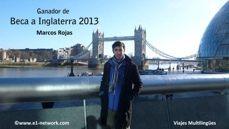 Marcos, disfrutando de la #beca a #Inglaterra 2013  www.e1-network.com