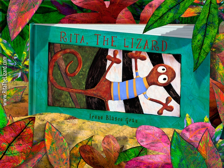 Casi lista para dejar el papel...  Almost ready to leave the paper...  Rita The Lizard App  http://ritathelizard.com/