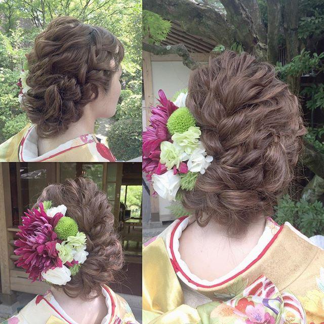 * *********************** fluffy kimono hairstyle *********************** * * #ブライダルヘア#ブライダルヘアメイク#ヘアアレンジ#ヘアセット#ヘアメイク#ヘアスタイル#ヘッドドレス#出張ヘアメイク#トリートドレッシング#ウェディング#ブライダル#前撮り#着物#振袖#結婚式#プレ花嫁#卒花嫁#結婚準備#2016秋婚 #wedding#bridal#bride#hairarrange#hairstyle#hairdo#kimono#thetreatdressing#flowers#love#misacostyle