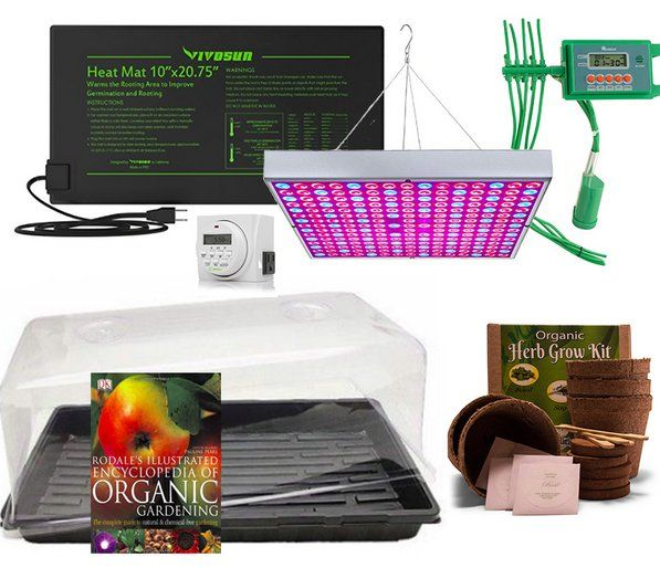 Win A Indoor Gardening Kit Including An Auto Watering System Greenhouse Full Spectrum Grow Lights Roda Indoor Gardening Kit Grow Kit Organic Gardening Books