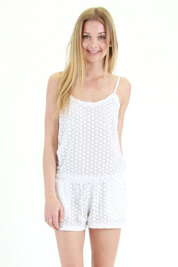 It doesn't get fresher than a Roxy Love Seeker Romper, so if you're looking for something cool, light and comfortable this summer, look no further. With adjustable straps, a waist drawcord and an all-over perforated texture, this is one winner of a romp!