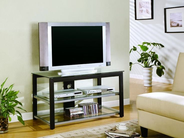 Coaster TV Stands Contemporary Metal And Glass Media Console   Underground  Furniture   Modern Furniture   TV Or Computer Unit San Diego, CA