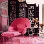 Hot pink decor - myLusciousLife.com - Betsey Johnson | More lusciousness here: http://mylusciouslife.com/stylish-home-pink-interiors/
