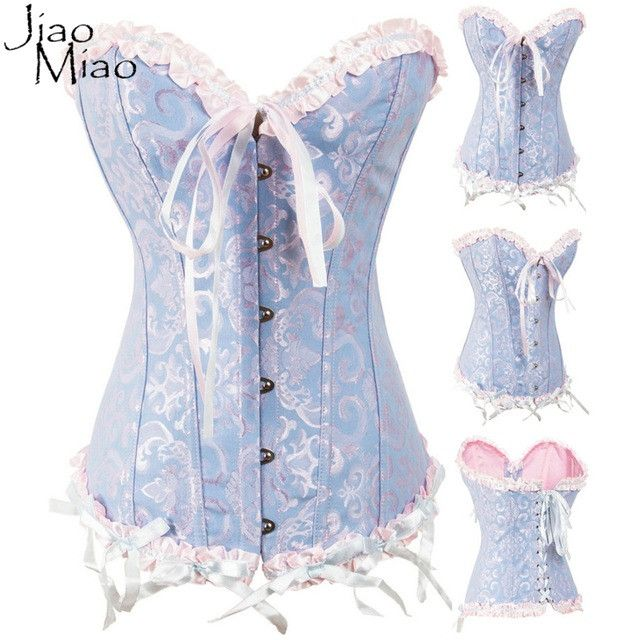 Jiao Miao Women Plus Size Clothes Sexy Waist Trainer Corsets Bustiers Overbust Body Shapewear Slimming Gothic shaper Corselet
