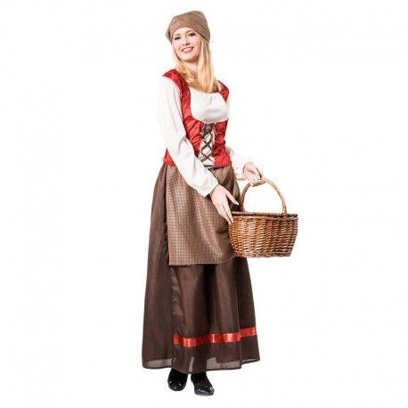 Disfraces medievales mujer   Disfraz de posadera medieval con falda larga. Podras usarlo para otro tipo de personajes: pastora, mesonera, lavandera... Contiene camisa, corpiño, falda, pañuelo para la cabeza y mandil.  19,95€  #posadera #falda #larga #faldalarga #mesonera #lavandera #corpiño #mandil #disfraz #medieval #disfraces #medievales