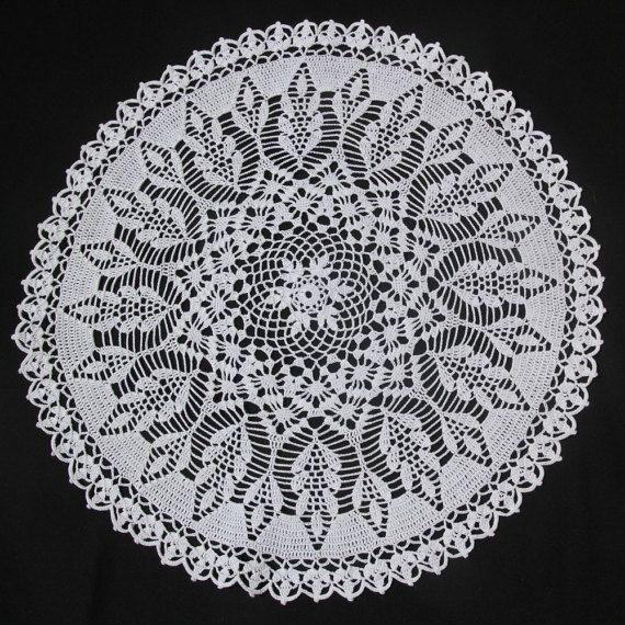 White round crochet doily by NatureAnesthesia on Etsy