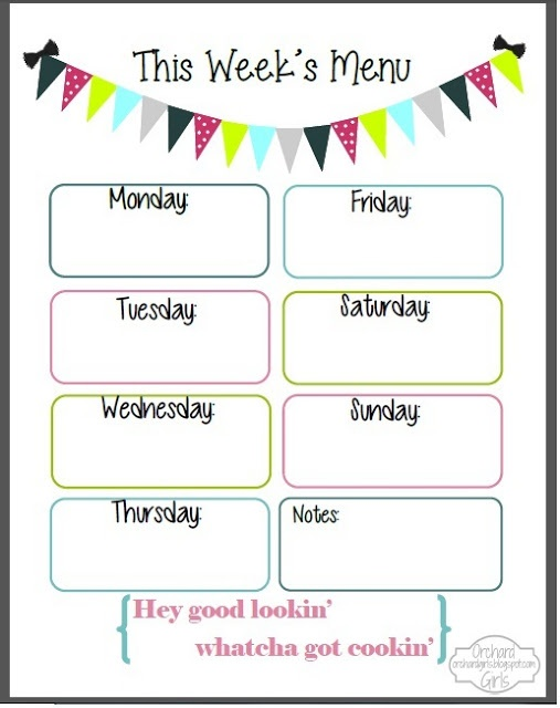 Best 25+ Weekly menu template ideas on Pinterest Menu planner - printable meal planner