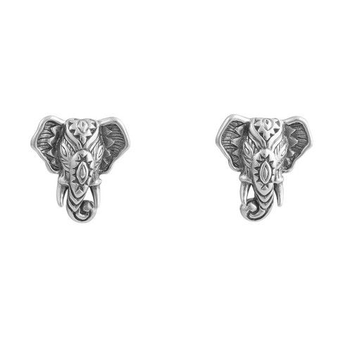 Decorated Elephant Head Studs - Midsummer Star