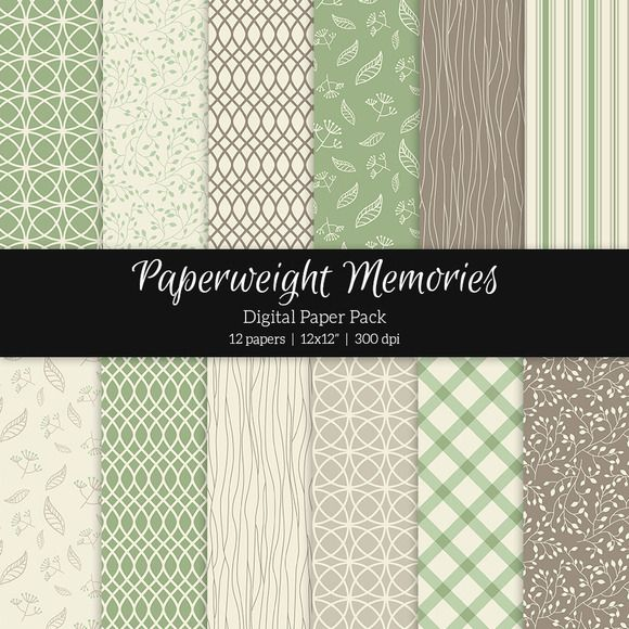 Digital Patterned Paper - Friends Forever Forest by Paperweight Memories on Creative Market --- http://crtv.mk/f0UDe