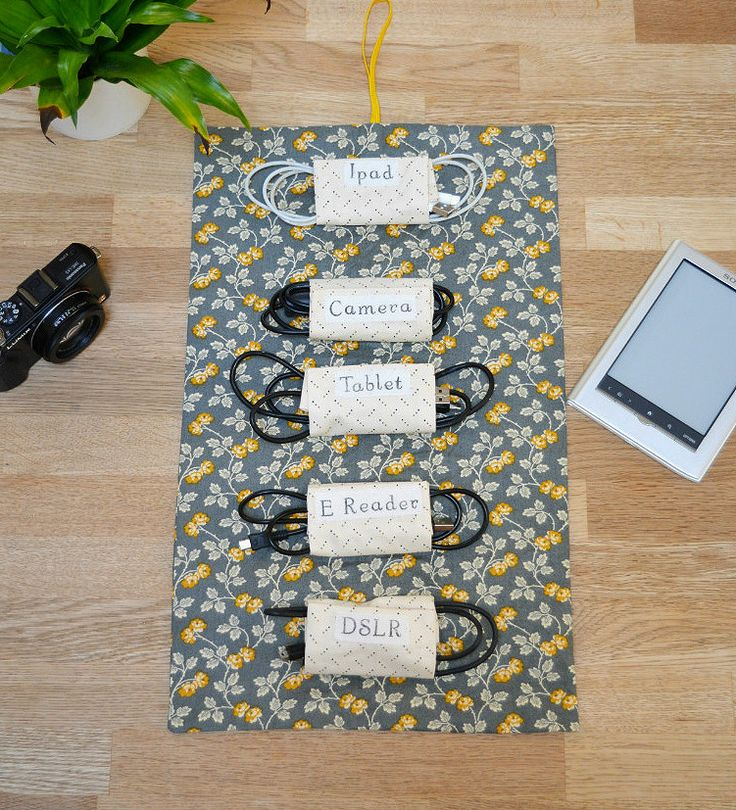 Fabric Cable Tidy, Cable Roll DIY #Giveaway