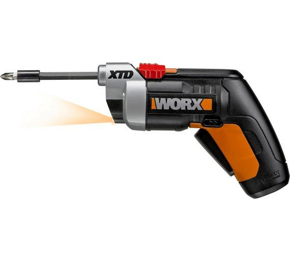 Buy Worx Wx252 Extending Cordless Screwdriver - 4V at Argos.co.uk, visit Argos.co.uk to shop online for Screwdrivers, DIY power tools, DIY tools and power tools, Home and garden