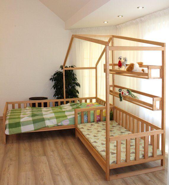 Camas de casa para niños pequeños con lamas Cama de estilo Montessori | Etsy