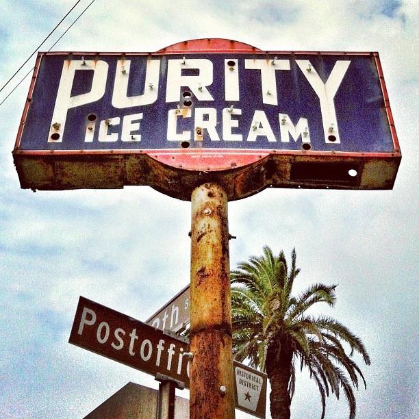 Purity Ice Cream vintage neon sign, Galveston, Texas by MOLLYBLOCK