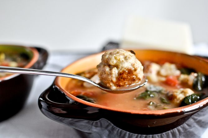 mini chicken meatball soup recipe