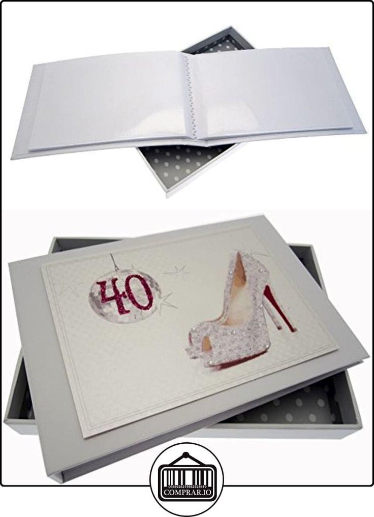 Tarjetas de algodón blanco 40o cumpleaños de la bola y los zapatos del brillo Tiny álbum  ✿ Regalos para recién nacidos - Bebes ✿ ▬► Ver oferta: http://comprar.io/goto/B013JKZKQQ