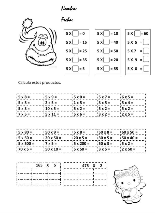 La maestra Mª Carmen Peñalver del CEIP Cervantes de Madrid nos envía dos fichas para trabajar el producto. La primera contiene actividades para reforzar el producto del cinco por la tabla extendida (productos con factores con ceros) y un par de producto de tres cifras por una. En la otra …