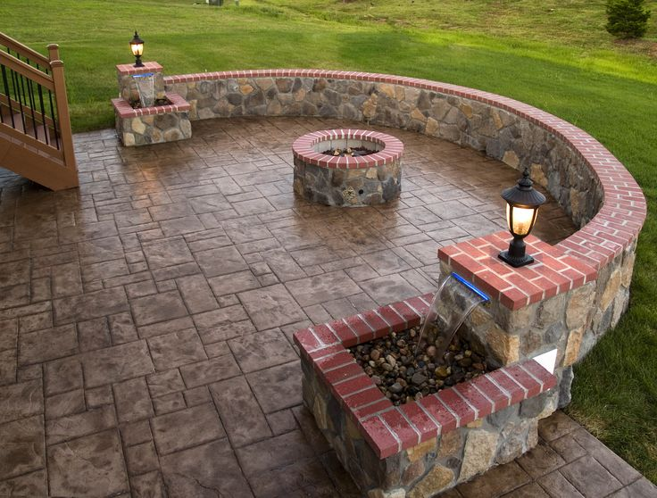 outdoor concrete,stone | Stamped Concrete and Stone Hardscape Pictures built by All Weather ...