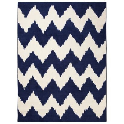 Awesome Blue Chevron Rugs