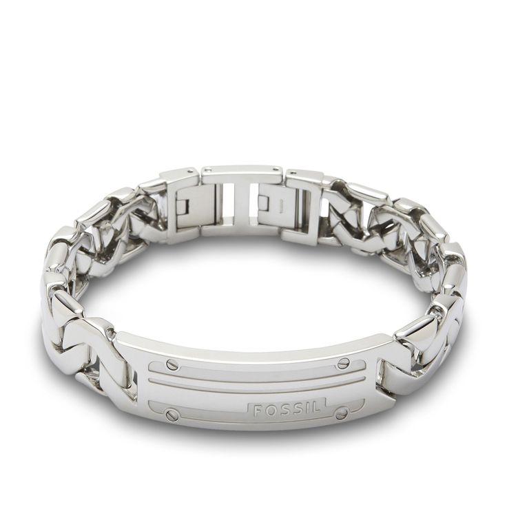 Fossil Armband für Herren JF87568040 mit Gravur aus der Serie Mens Dress hier online bestellen